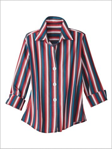 Sonoma Stripe Shirt by Foxcroft - Image 2 of 2
