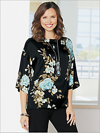 Couture Kimono Sleeve Floral Top