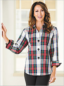 Windsor Tartan Plaid Shirt by Foxcroft