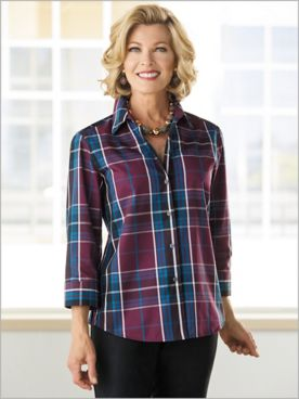 Monterey Plaid Shirt by Foxcroft