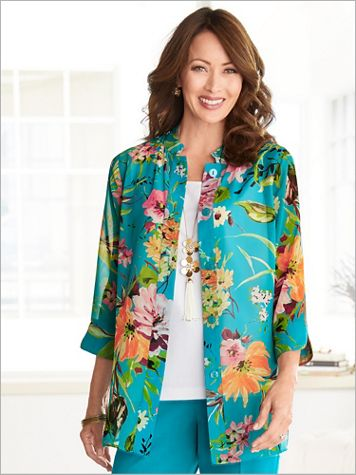 Captivating Corsage Big Shirt