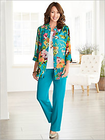 Captivating Corsage Big Shirt & Look-Of-Linen Separates