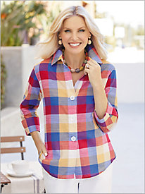 Lollipop Plaid Shirt by Foxcroft