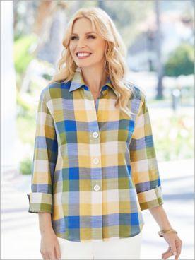Picnic Plaid Shirt by Foxcroft