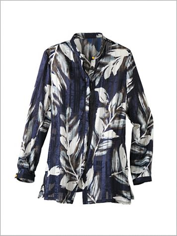 Shadow Stripe Leaf Blouse - Image 2 of 2