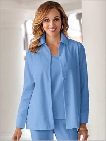 Look-Of-Linen Big Shirt - Image 1 of 6