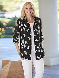 Embroidered Crinkle Shirt by Brownstone Studio® & Mojave® Separates