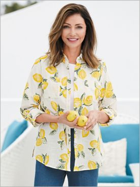 Lovely Lemons Shirt by Foxcroft