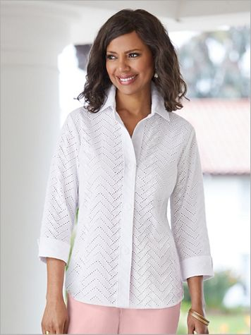 Chevron Eyelet Shirt - Image 2 of 2