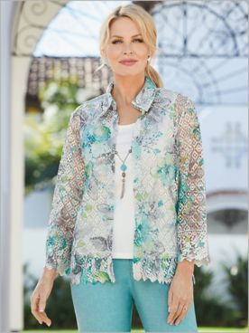 Versailles Printed Lace 2-Fer by Alfred Dunner