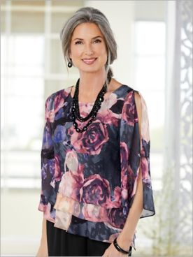 Coming Up Roses Triple Tier Top by Alex Evenings