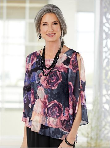Coming Up Roses Triple Tier Top by Alex Evenings - Image 2 of 2