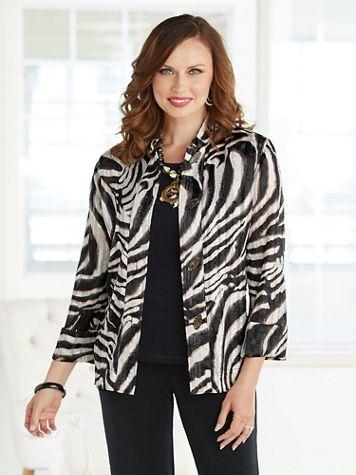 Shadow Stripe Safari Shirt - Image 2 of 2