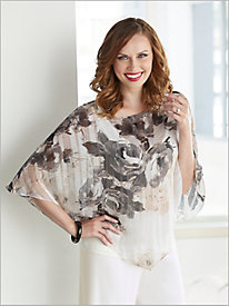Flourishing Floral Tier Top by Alex Evenings