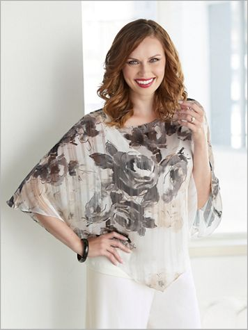 Flourishing Floral Tier Top by Alex Evenings - Image 3 of 3