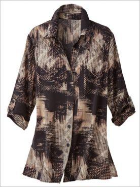 Uptown Grid Print Shirt