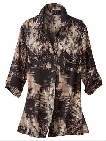 Uptown Grid Print Shirt - Image 2 of 2