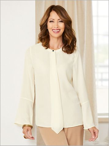 Modern Luxe Georgette Solid Shirt - Image 1 of 1