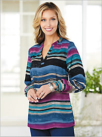 Brushstroke Stripe Top