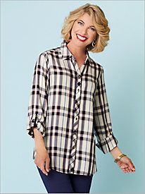 Autumn Plaid Long Sleeve Shirt by Foxcroft