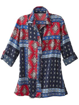 Venetian Patch Print Shirt