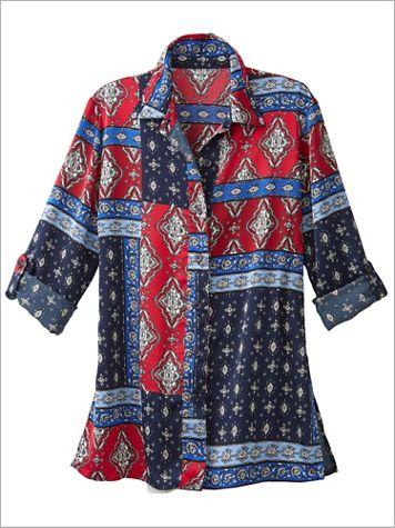 Venetian Patch Print Shirt - Image 2 of 2