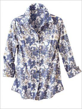 Indigo Floral Shirt