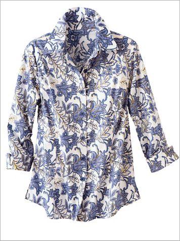 Indigo Floral Shirt - Image 2 of 2