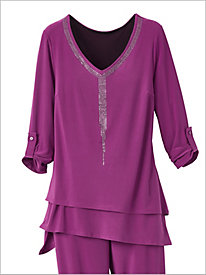 Punch Of Color Embellished Top by Picadilly