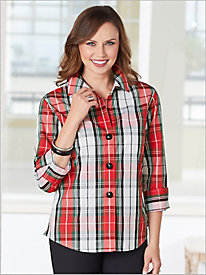 Bristol Plaid Shirt by Foxcroft