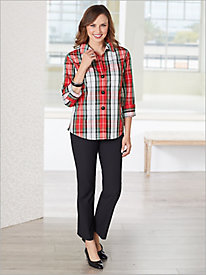 Foxcroft Bristol Plaid Shirt & Slimtacular® Pants