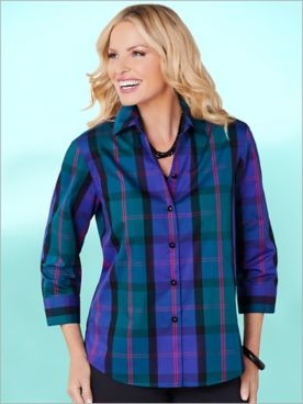 Foxcroft Kensington Plaid Shirt