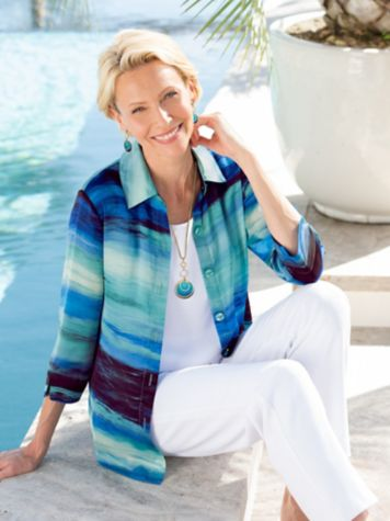Ocean Ombre Shirt & Look-Of-Linen Separates