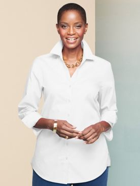 Foxcroft Wrinkle-Free Solid Long Sleeve Tunic
