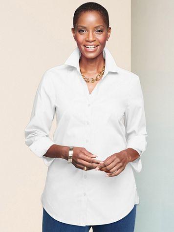 Foxcroft Wrinkle-Free Solid Long Sleeve Tunic - Image 1 of 4