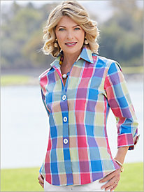 La Jolla Plaid Shirt by Foxcroft