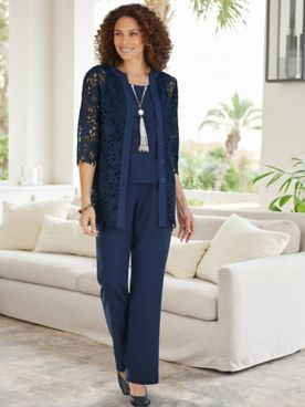 Laguna Lace Shirt & Look-Of-Linen Separates