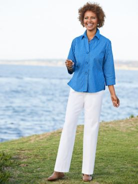 Foxcroft Check Shirt & Slimtacular® Pants