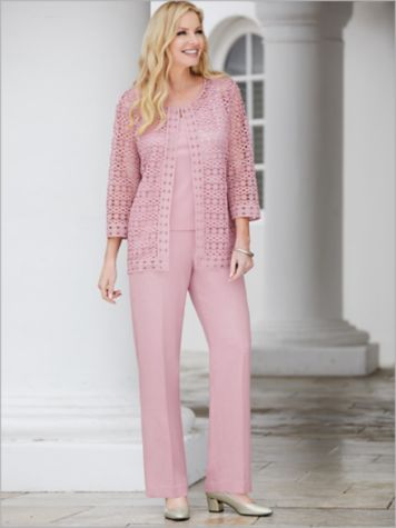 Primrose Garden All Over 2-Fer & Solid Pants by Alfred Dunner