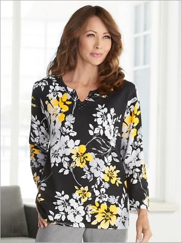 Riverside Drive Floral Sweater by Alfred Dunner - Image 1 of 2