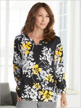 Riverside Drive Floral Sweater by Alfred Dunner