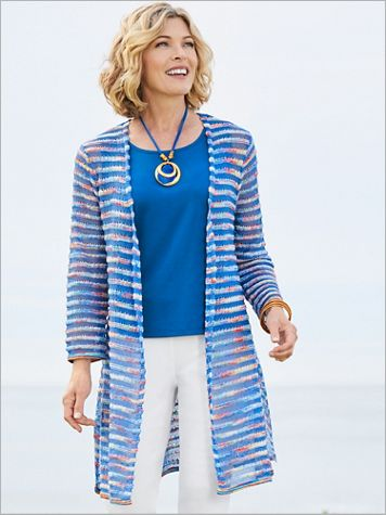 Meet Me In Capri Sweater Cardigan by Ruby Rd. - Image 1 of 1