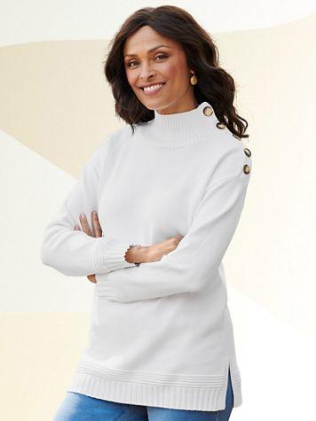 Monroe Mock Neck Long Sleeve Sweater