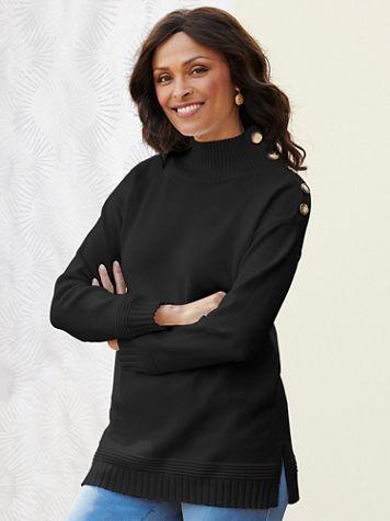 Monroe Mock Neck Long Sleeve Sweater - Image 4 of 4