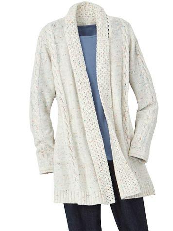 Confetti Long Sleeve Cardigan Sweater