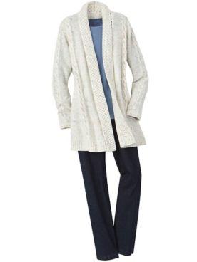 Confetti Cardigan & Slimtacular® Denim Pants