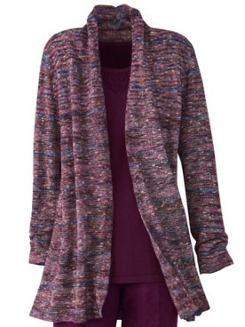 Mavis Marled Long Sleeve Sweater Cardigan