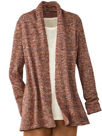 Mavis Marled Long Sleeve Sweater Cardigan - Image 3 of 4