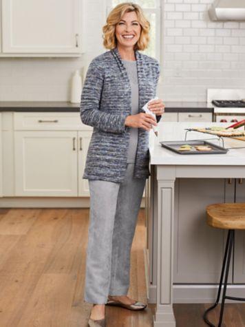 Mavis Marled Cardigan & Microsuede Pants