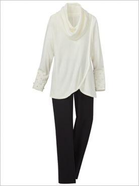 Pearlfection Cowl Sweater & Slimtacular® Pants